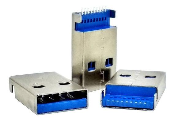 5 Unids Conector Usb 3.0 Tipo Um Macho 9 Pinos Smd 2 Pinos