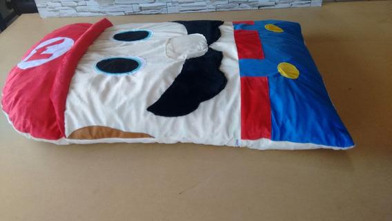 Almofada Decorativa Mario Bros Medio Tam 100x140 Cheio