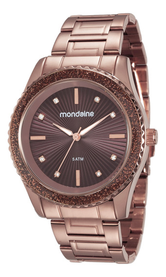 Relógio Original Mondaine Feminino Chocolate 76568lpmvme6