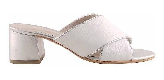 Zueco Zapato Mujer Cuero Briganti Taco Goma - Mcsu48024
