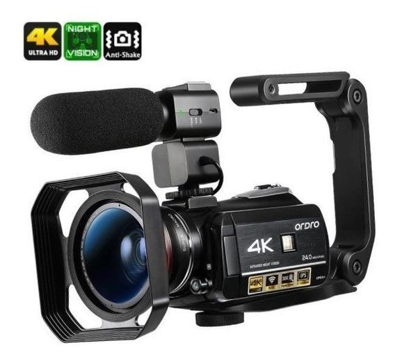 Filmadora Digital Ordro Hdr-ac3 4k Wi-fi V. Noturna Completa