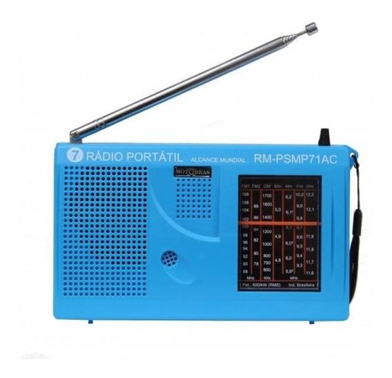 Rádio Portátil Motobras Rm-psmp71ac 500mw 7 Faixas Bivolt
