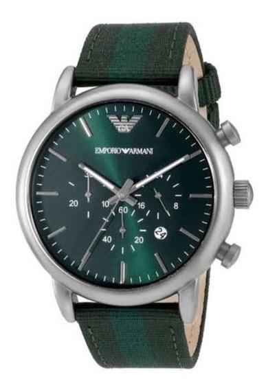 Relógio Empório Armani Ar1950 Dress Green Nylon