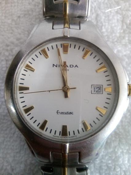 Reloj Nivada Original Swiss Made Cuarzo Funcionando Gc2453g