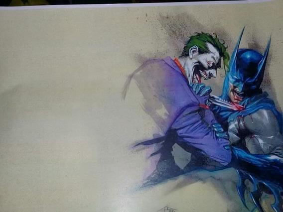 Póster De Joker Vs Batman Dc Comics