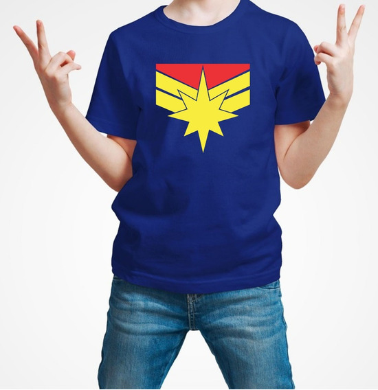 Playera Capitana Marvel Captain Marvel Niño Envio Gratis