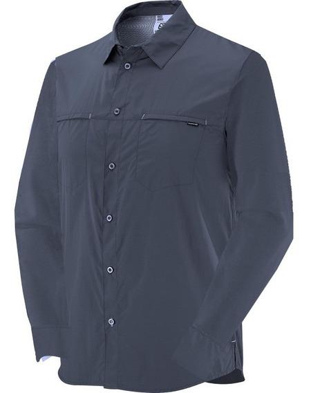 Camisas Hombre - Salomon - Strech Ls Shirt - Casual