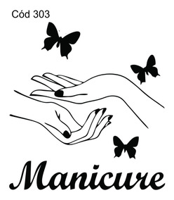 Adesivo Decorativo Salão De Beleza Manicure Mãos Conectta303