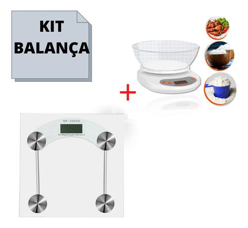 Imagem 1 de 5 de Kit Balança Banheiro 180kg + Balança Domestico 5kg Promoção