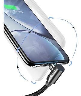 Cabo Carregador Magnético +plug Micro Usb Ou Tipoc Ou iPhone