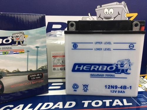 Bateria Herbo Motos 12n9-3b C/ Bidon Original
