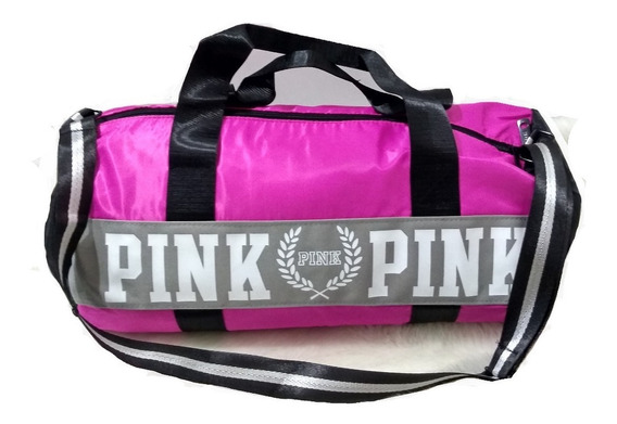 Bolsa Academia Mala Viagem Fitness Victorias Secret Pink Preto Cinza