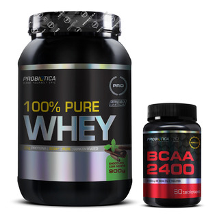 100% Pure Whey 900g - Bcaa 2400 Monster 60 Caps