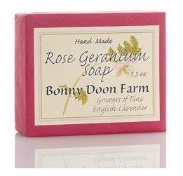 Rose Geranium Soap Bar 5.5 Oz Por Bonny Doon Farm