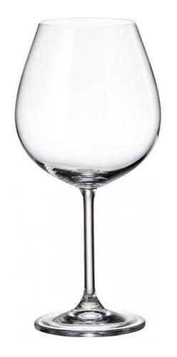 Imagen 1 de 7 de Copón Vino Cristal Bohemia Cristallitte Colibrí 650ml Set X6