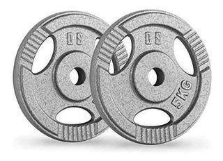 Disco 10 Lbs 5kg Para Pesas Y Mancuernas Gimnasio Gym