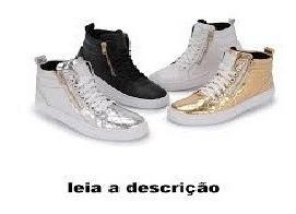 Bota Sneaker Feminino De Zíper Do Tamanho 33 Ao 40