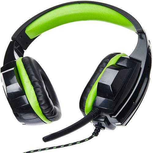 Imagem 1 de 4 de Fone De Ouvido Headset Gamer P2/cabo Nylon Verde Ph123 3