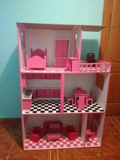 Casa De Barbie En Mdf.