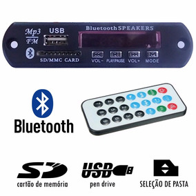 Kit 3 Placa P/ Amplificador - Modulo Usb Mp3 Bluetooth Pasta