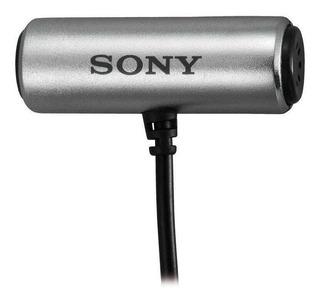 Micrófono Sony ECM-CS3 condensador omnidireccional gris