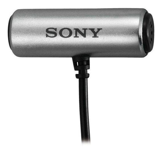 Microfone Sony ECM-CS3 condensador cinza