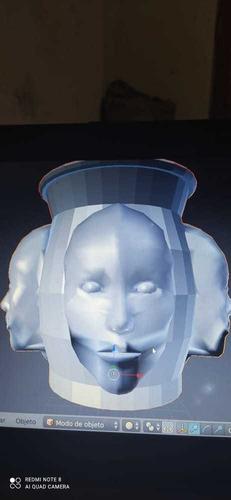 Imagem 1 de 5 de Vaso Com Quatro Cabeça Arquivo Para Impressora 3d