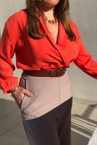 Pantalón Palazzo Mujer Crepe
