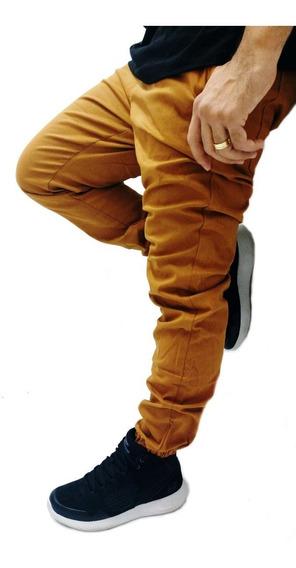 Calça Masculina Jogger Caramelo Queima De Estoque Elástico