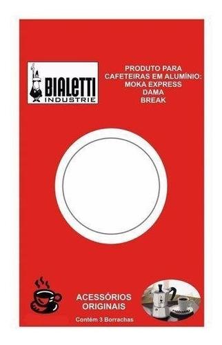 Imagem 1 de 3 de Kit 3 Borrachas Bialetti + Filtro Cafeteira 9 Xícaras