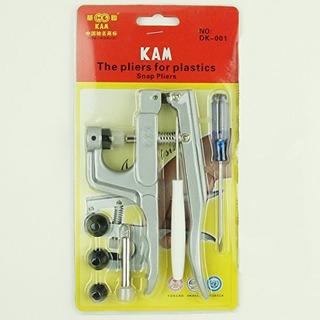 Kam Snap Press Plier Hand Setter Tool Y 4 Dies Tamaños T3 T
