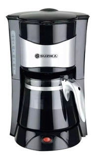 Cafetera Electrica Acero Antigoteo 12 Tazas 1,2lt Suzika 036