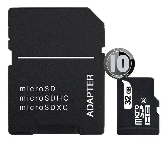 Kit 10x Cartao Memoria 32gb Micro Sd Classe 10 Adaptador Sd