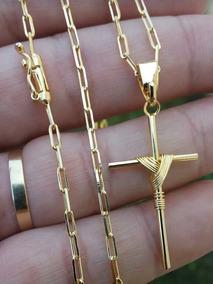Corrente Cartier Masculino Banhado A Ouro 18k
