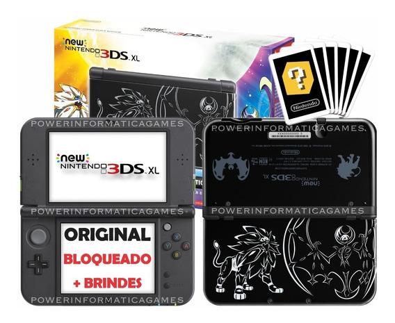 Console Nintendo New 3ds Xl Solgaleo Lunala 4gb + 2 Brindes