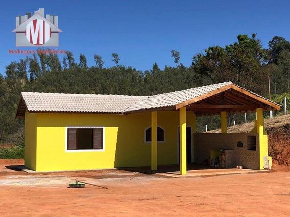 Chácara Nova Com 01 Dormitório À Venda, 2100 M² Por R$ 145.000 - Pedra Bela - Pedra Bela/sp - Ch0542
