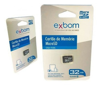 Cartao De Memoria 32gb Exbom Stgd-tf32g 02977 Micro Sd Box
