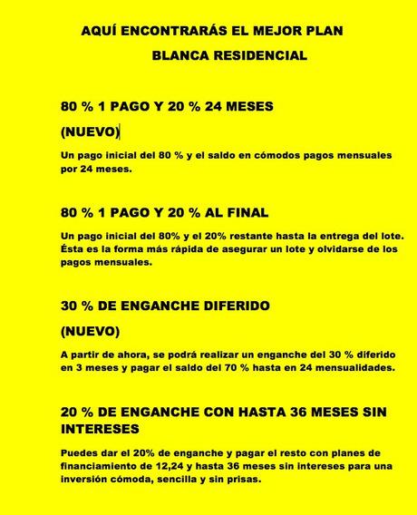 Oportunidad! Planes De Financiamiento Blanca Residencial Al Norte De Mérida