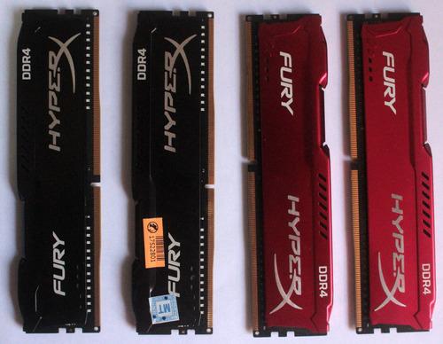 Imagem 1 de 6 de Ddr4 3200mhz Hyperx Fury 8gb Hx432c18fb2/8  E Hx432c18fr2/8