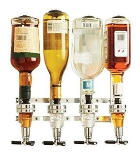 Dispensador De Pared Para 4 Botellas De Whiskey Licor Lp