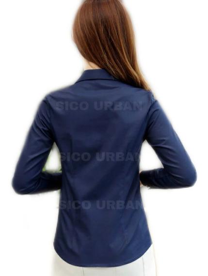 Camisas Elastizadas Entalladas Damas - Nuevas