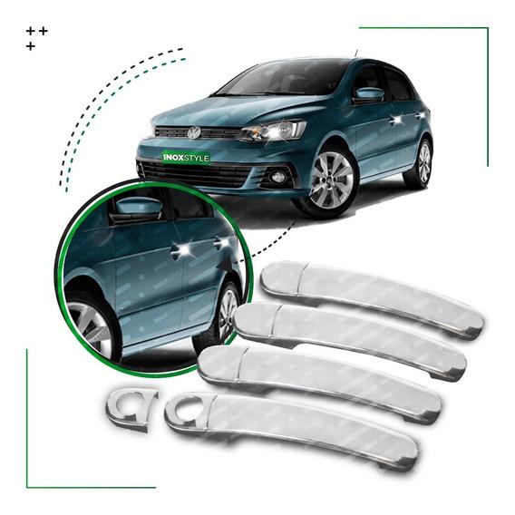 Kit 4 Cubre Manijas Cromadas Para Vw Volkswagen Gol Trend Fox Up! Bora Golf Suran Pack De Accesorios