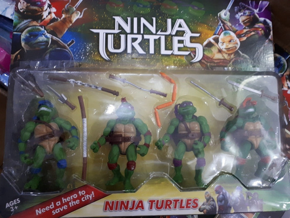 Cartela Com 4 Personagens Tartaruga Ninjas