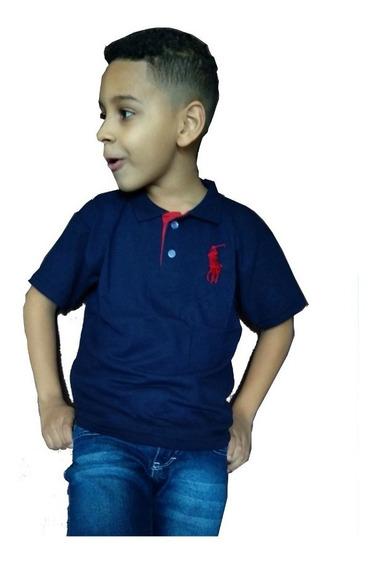 Kit De 6 Polo Infantil Masculina Blusa De Gola Promoção