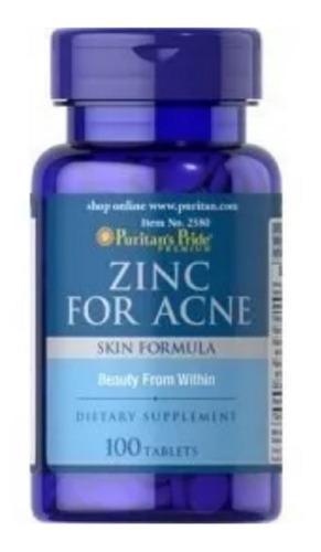 Zinc For Acne 100 Tabs Contra El Acné - - L a $649