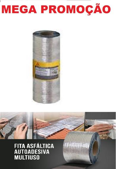 Fita Manta Asfáltica Alumínio Multiuso 30cm X 10m Sika