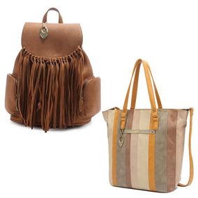 Bolsa Tote Bag Moda Feminina C/ Bolsa Mochila Luxo Mormaii