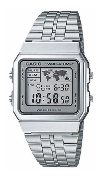 Relógio Casio Vintage World Time Unissex A500wa-7df