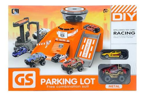 Imagen 1 de 5 de Parking Con 2 Vehiculos De Metal Garage Varios Modelos
