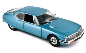 Norev Citroen Sm 1971 1/18 Platine Azul Metálico